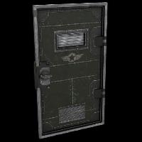 Military Armored Door Rust Skin
