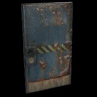 Hazard Metal Door Rust Skin