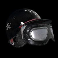 Biker Goth Helmet Rust Skin