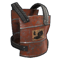 Oil Barrel Chest Plate Rust Skin