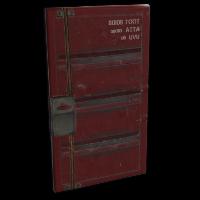 Shipping Container Door Rust Skin