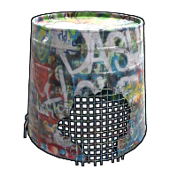 Graffiti Bucket Helmet Rust Skin