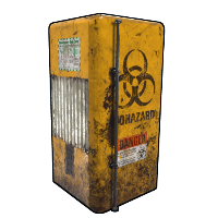 Biohazard Fridge Rust Skin
