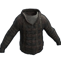 Leather Strapped Hoodie Rust Skin