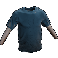 Blue Tshirt Rust Skin