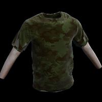 Forest Camo Tshirt Rust Skin