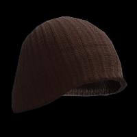 Black Beenie Hat Rust Skin