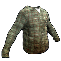 Green Checkered Shirt Rust Skin