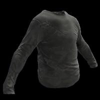Black Longsleeve T-Shirt Rust Skin