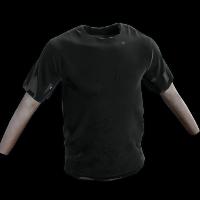 Black Tshirt Rust Skin