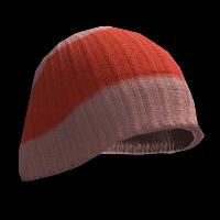Red Beenie Hat Rust Skin