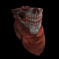 Red Skull Bandana Rust Skin