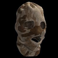 Desert Camo Balaclava Rust Skin