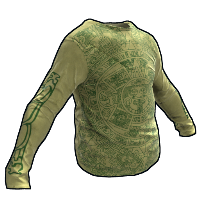 Aztec Long T-Shirt Rust Skin