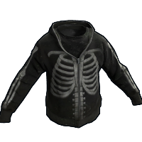 Skeleton Hoodie Rust Skin