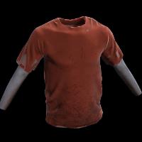 Red Tshirt Rust Skin