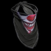 Creepy Clown Bandana Rust Skin