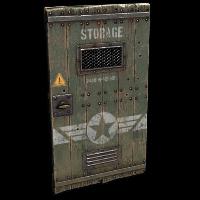 Military Storage Wooden Door Rust Skin