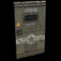 Military Storage Wooden Door