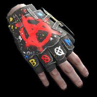 Bombing Roadsign Gloves Rust Skin