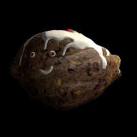Festive Pudding Rock Rust Skin