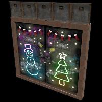 Christmas Bunker Double Door Rust Skin
