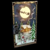 Santa's Door Rust Skin