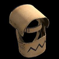 Cardboard Helmet Rust Skin