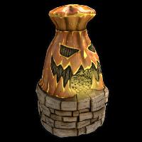 Jack-o'-lantern Furnace
