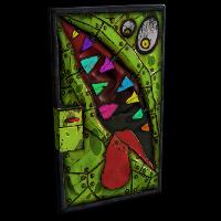 Metal Monster Door Rust Skin