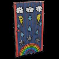 Weather Wood Door