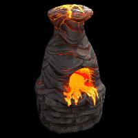 Volcano Furnace Rust Skin