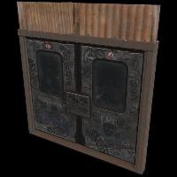 Old Subway Doors Rust Skin