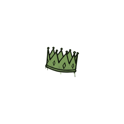 Sealed Graffiti | King Me (Battle Green)