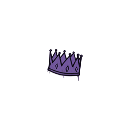 Sealed Graffiti | King Me (Monster Purple)