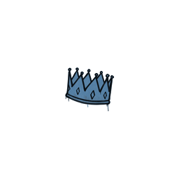 Sealed Graffiti | King Me (Monarch Blue)
