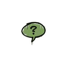 Sealed Graffiti | Question Mark (Battle Green)