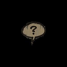 Sealed Graffiti | Question Mark (Dust Brown)