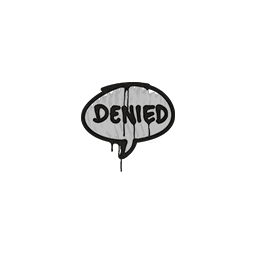 Sealed Graffiti | Denied (Shark White)
