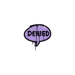 Sealed Graffiti | Denied (Violent Violet)