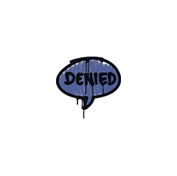 Sealed Graffiti | Denied (SWAT Blue)