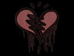 Sealed Graffiti   Broken Heart (Brick Red)