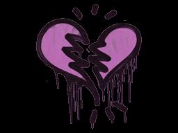 Sealed Graffiti | Broken Heart (Bazooka Pink)