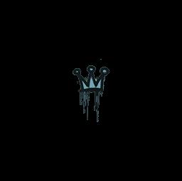 Sealed Graffiti | Little Crown (Wire Blue)