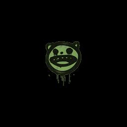 Sealed Graffiti | Happy Cat (Battle Green)